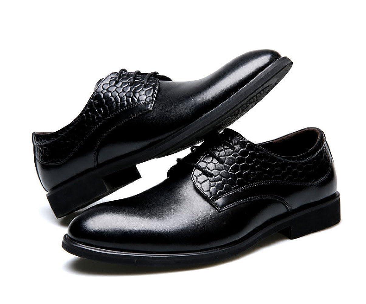 LEDLFIE Herren Herren Herren Lederschuhe Business Casual Schuhe Runde Herrenschuhe f6d274