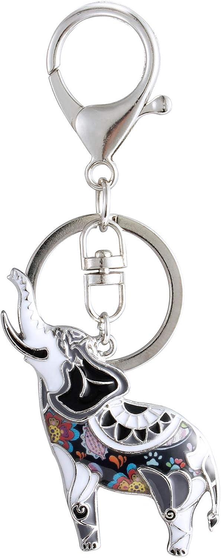 Amazon.com: Luckeyui - Llavero de elefante de la suerte para ...
