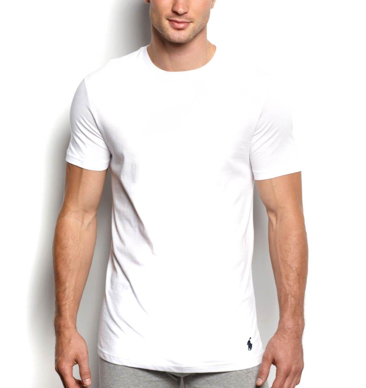 Polo Ralph Lauren Classic Crew Neck T-Shirt 3-Pack, X-Large, White
