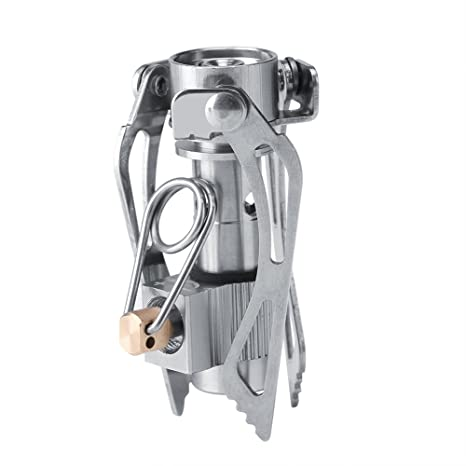 Bolsillo Camping estufa plegable Mini cocina de gas de campaña ultraligero portátil aleación de aluminio al