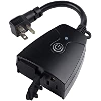 HBN Outdoor Smart Wi-Fi Plug with Two Grounded Outlet