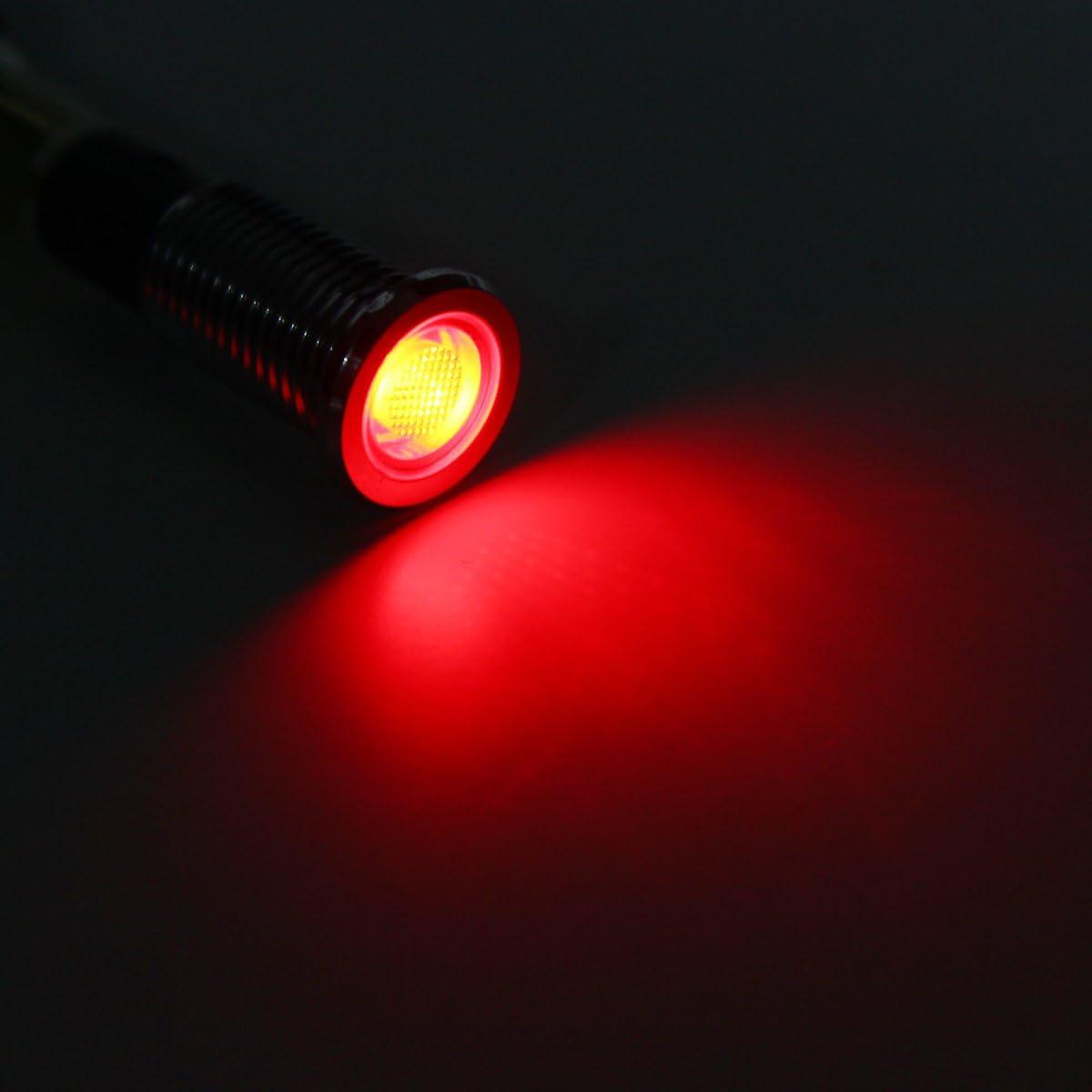 Alamor 12V 10Mm Tableau De Bord LED Indicateur DAvertissement Lampe T/émoin Lumineux-Rouge