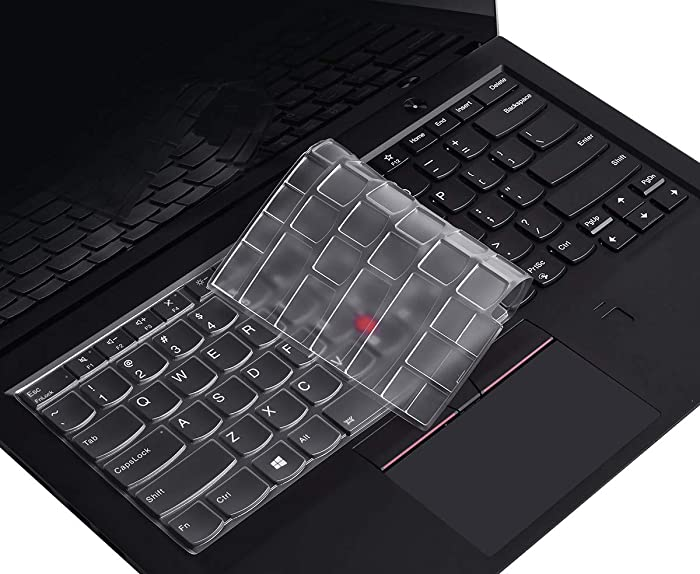 """CaseBuy Keyboard Cover Compatible with Lenovo ThinkPad X1 Carbon 5th/6th/7th 2019/2018/2017, ThinkPad A475 L460 L470 T460 T460p T460s T470 T470p T470s 14"""" Laptop Soft-Touch Ultra Thin Protective Skin"""