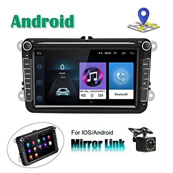 Radio para Coche Android para VW Navegación GPS Camecho 8 Pantalla táctil capacitiva Bluetooth Car Reproductor estéreo WiFi FM Radio Receptor Dual ...
