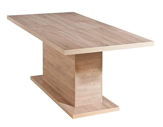 Inter Link Esszimmertisch Esstisch Küchentisch Tisch Ausziehbar KF-Board Sonoma-Eiche Nachbildung
