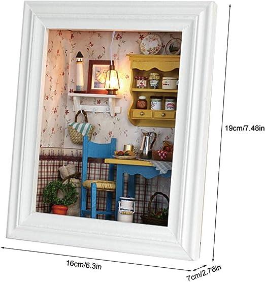 Casa Delle Bambole Fai Da Te Decorazioni Per Kit Casa Delle Bambole In Miniatura Photo Frame Design Kit Fai Da Te Per La Casa Con Luci E Mobili Regali Di Compleanno Decorazione Domestica Per Ragazzi Bambole