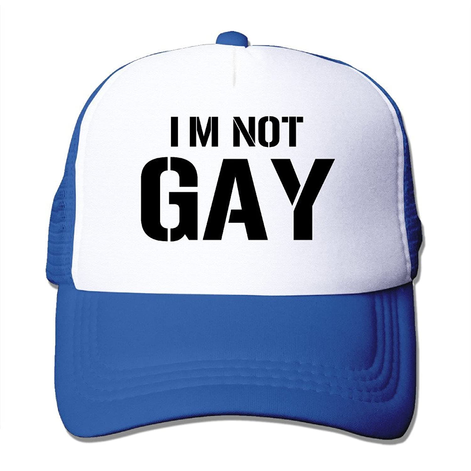 Texhood I'm Not Gay Fashion Cap Hat One Size Black