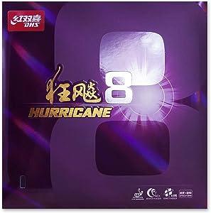 DHS Hurricane 8 Hard Table Tennis Rubber