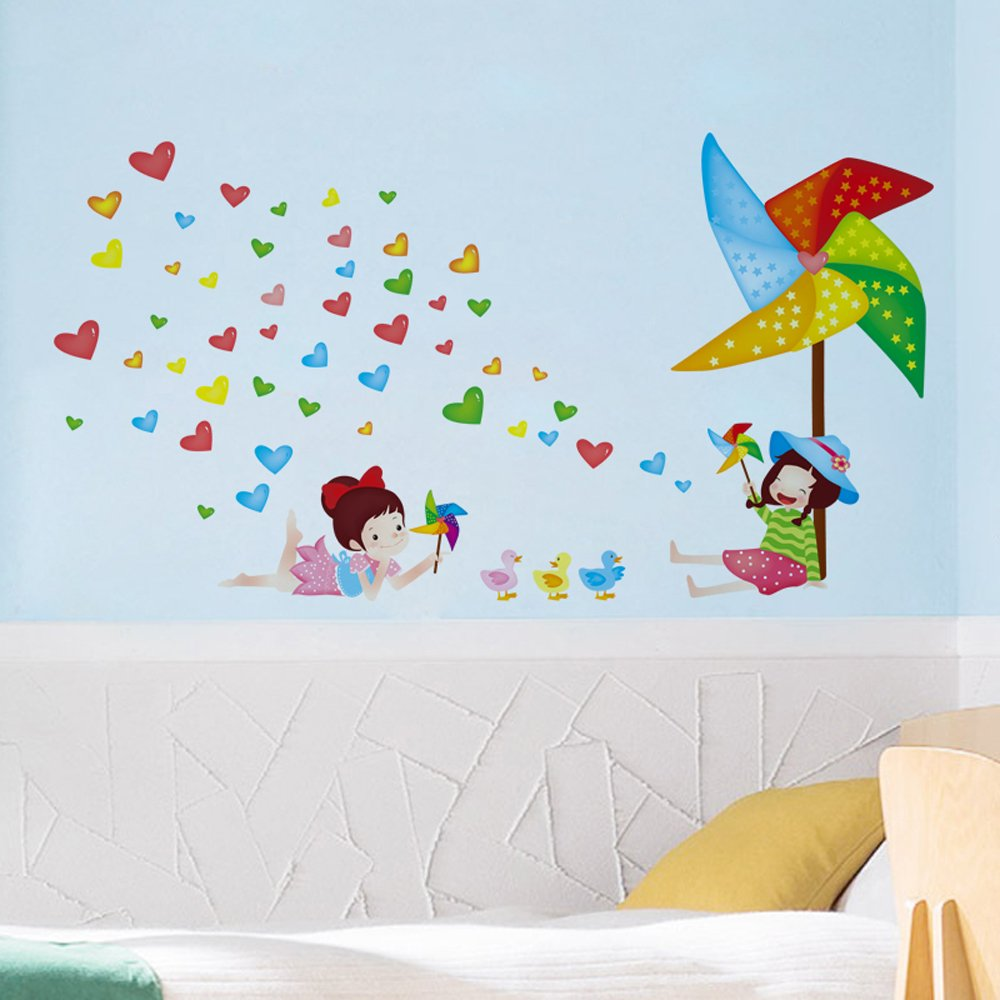 Animal Paradise Butterflies Trees Flowers Wall Stickers Lovely Cartoon Animals Removable Wall Decals Home Decor PVC Art Mural Baby Boys Girls Kids Bedroom Kitchen Nursery Decoration