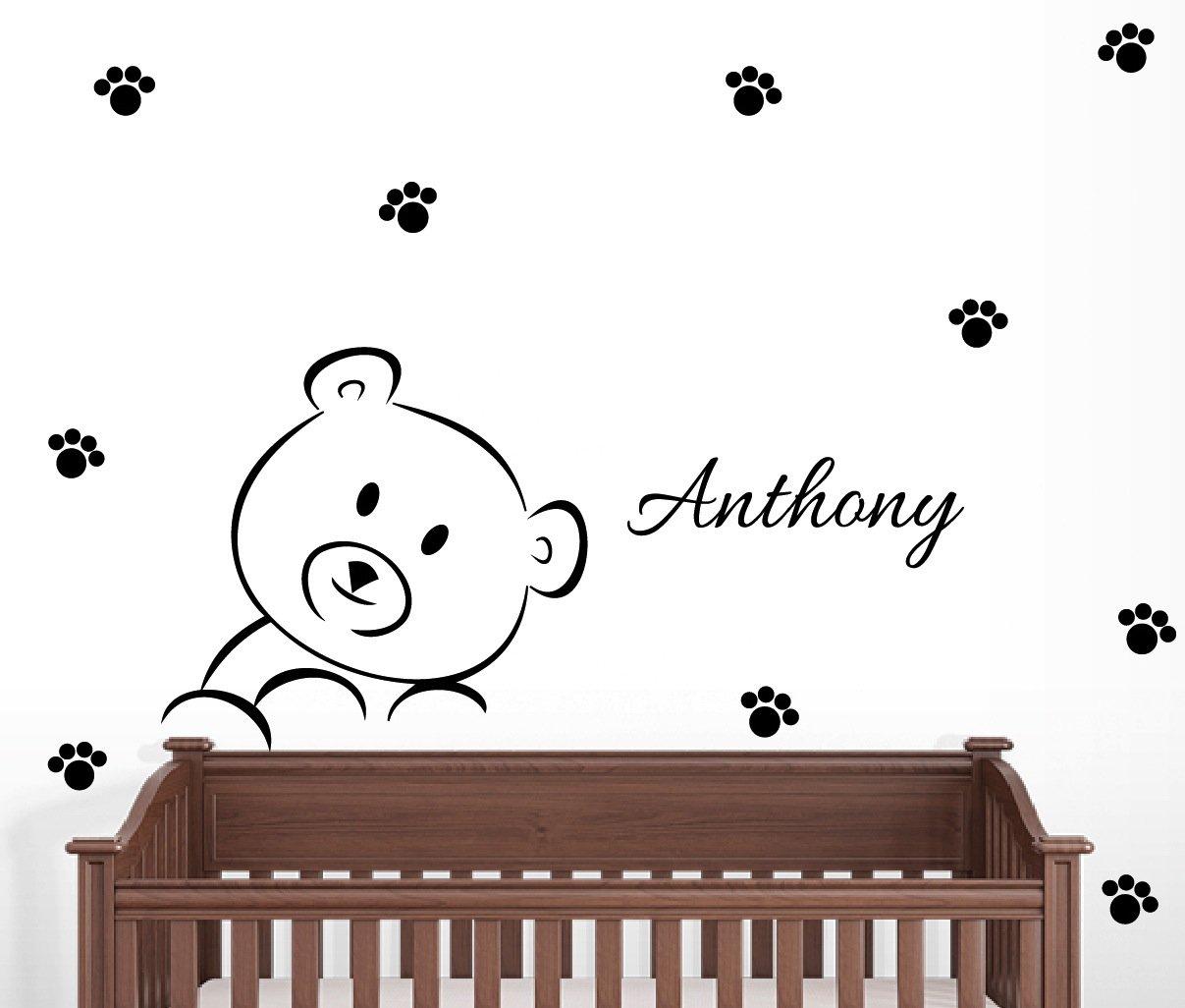 Personalized Teddy Bear Wall Decal Nursery Decor