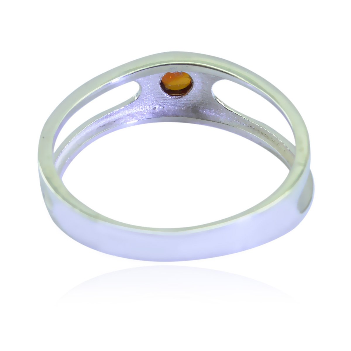 Genuine Gems Round cabochon Citrine Rings Sterling Silver Yellow Citrine Genuine Gems Ring Daughter Jewelry Highest Selling Items Gift for Teachers Day Highest Ring