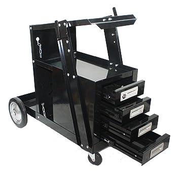 4 cajones carro de soldadura soldador MIG de peso Flux Arc Tig Plasma máquina