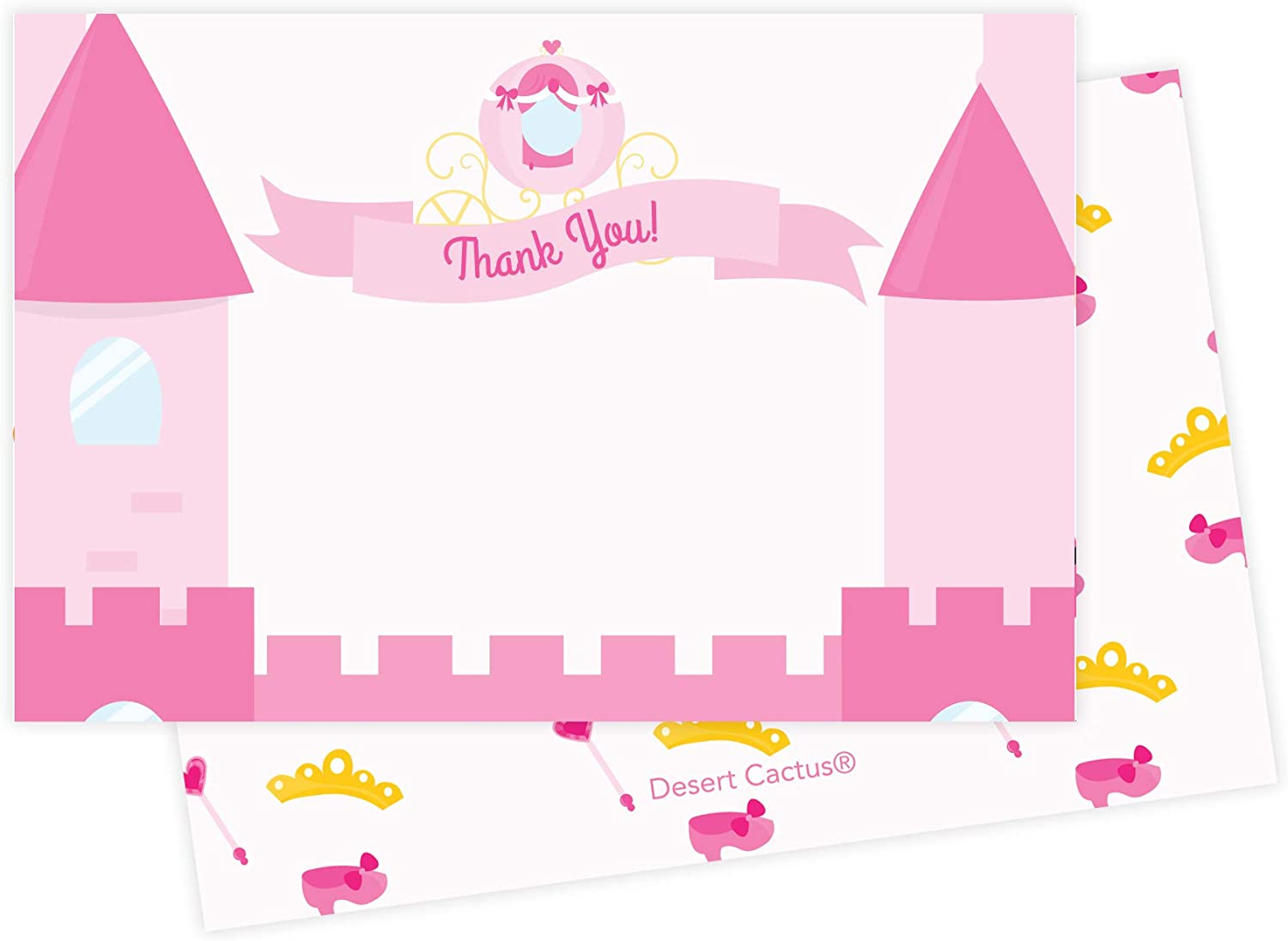 Purple Disney Castle Thank You Card  Printable Birthday Party Thank You Card  Baby Shower Thank You Card