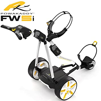POWAKADDY CARRITO DE GOLF ELECTRICO FW5s COLOR GRAFITO CON BATERIA DE LITIO 18 HOYOS: Amazon.es: Deportes y aire libre