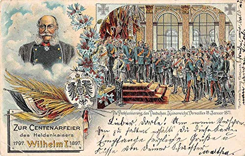 Germany Emperor Wilhelm I Celebration Royalty Antique Postcard J80489