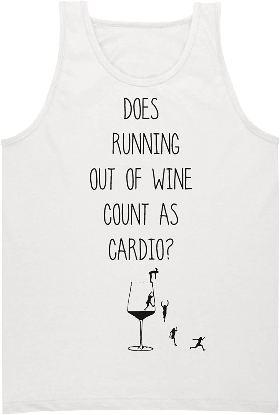 Shirts Fashion Does Running Out Of Wine Counts As Cardio Mens Tank ...