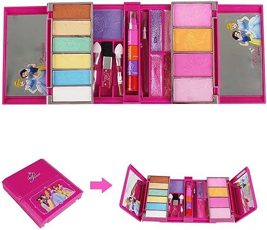 Niños paleta de maquillaje para niña, cosméticos de los niños conjunto de juguetes, kit para niños