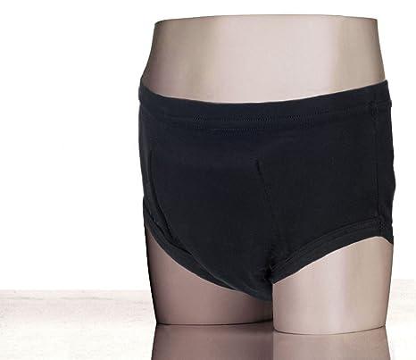 Kylie Boys Brief Washable Absorbent Incontinence Underwear, Black, Medium 5-7 yrs by