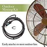 Outdoor Misting Kit for Your Fan – Stay Cool and Comfortable During Hot Summer Days and Nights - Cheap and Easy Solution for Converting Your Standing Fan to a Cooling Machine - Fits Most Fans