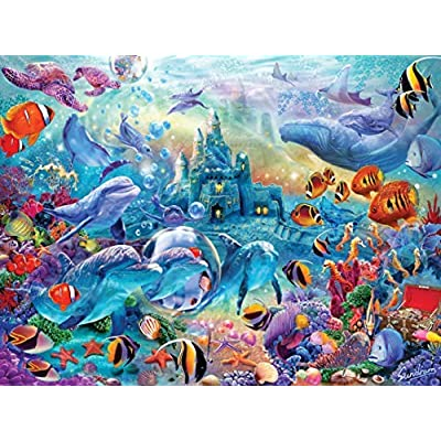 MasterPieces Hidden Images Glow - Sea Castle Delight 500-Piece Jigsaw Puzzle: Toys & Games