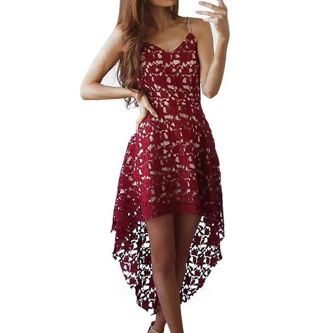 Kleider Damen Dasongff Frauen Abendkleid Blumenspitze Sleeveless ...