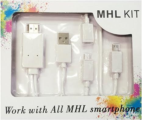 Cable MHL teléfono a TV Android MHL a HDMI TV Línea Definición ...