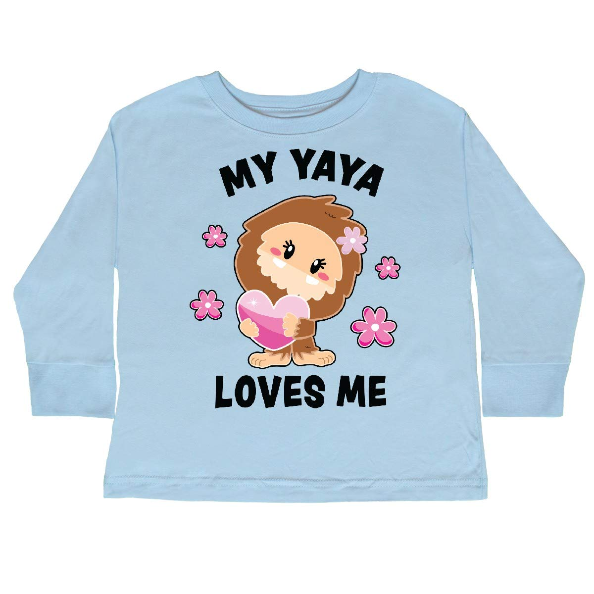 inktastic My Yaya Loves Me with Bigfoot Toddler Long Sleeve T-Shirt