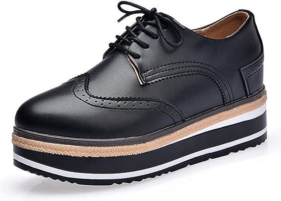platform wingtip shoes