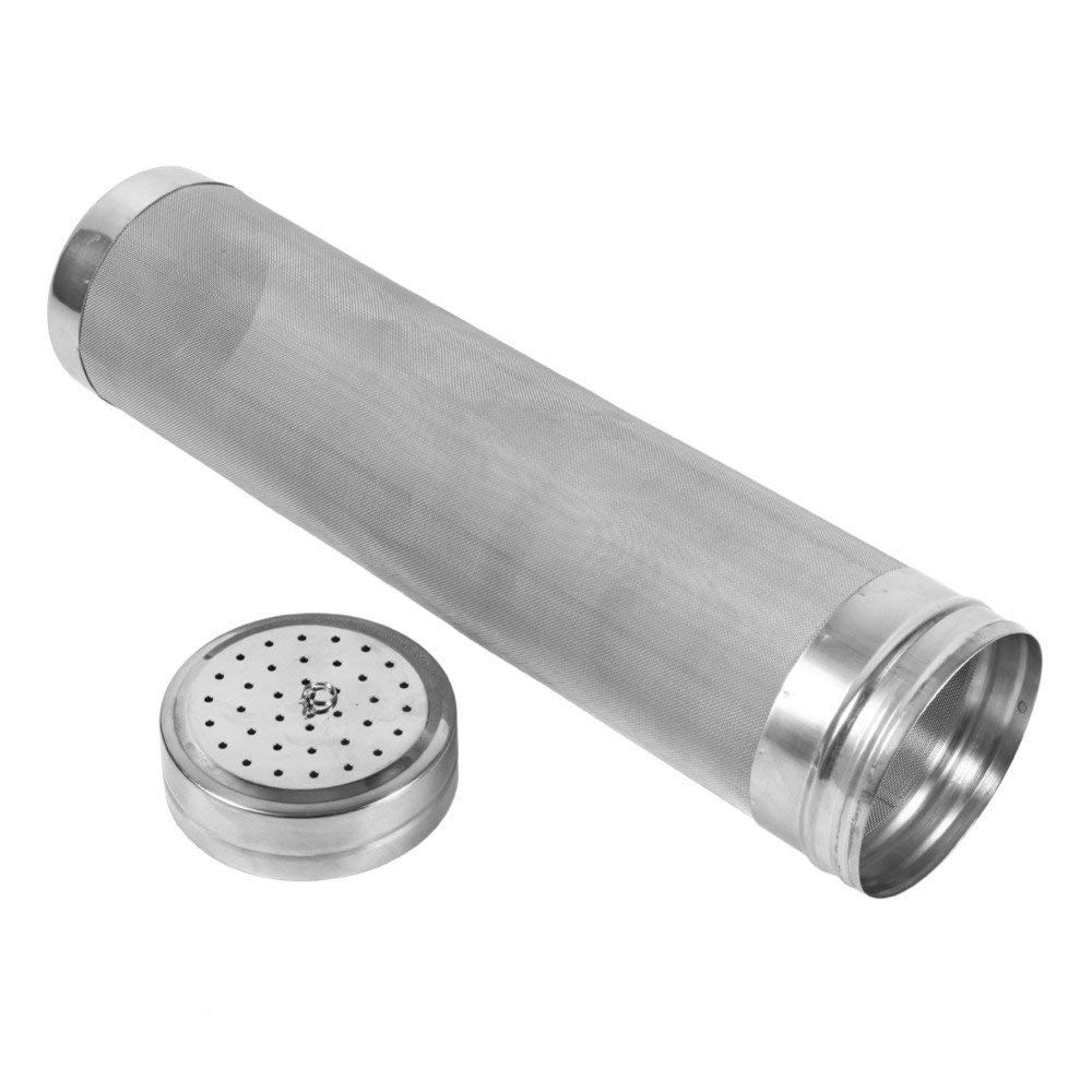 Beer Dry Hopper Filter,300 Micron Filter Stainless Steel Mesh Cornelius Keg for Home Beer Brewing Kettle (2.8 x 11.8 inch) by TIZZE