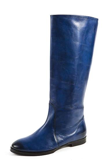 reputable site ff18a c651b Melvin & Hamilton Damen Grace 1 Stiefel Blau Gr. 37: Amazon ...