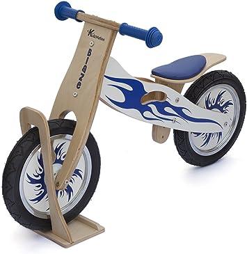 Blaze bicicleta de equilibrio de madera con soporte: Amazon.es ...