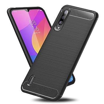 TopACE Funda para Xiaomi Mi A3,Funda Móvil de Fibra de Carbono Carcasa Móvil Cepillada de Silicona Suave Simple Ligera y Anti-caída Protector Móvil de ...