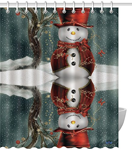 Christmas Snowman Decorative Shower Curtain