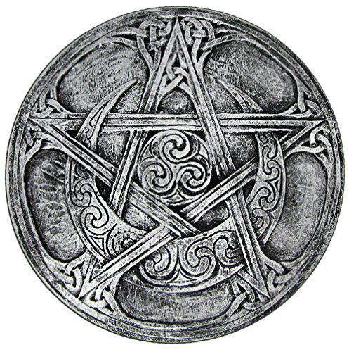 (Dryad Design Moon Pentacle Plaque Silver Finish)