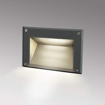 Topmo-plus luz de pared empotrada LED Luz Subterranea Escaleras de Paso subterráneo / 3W LED Osram SMD luz hacia abajo Exterior Interior impermeable Escalera Esquina Patio Pasillo 162 MM gris 4000K: Amazon.es: