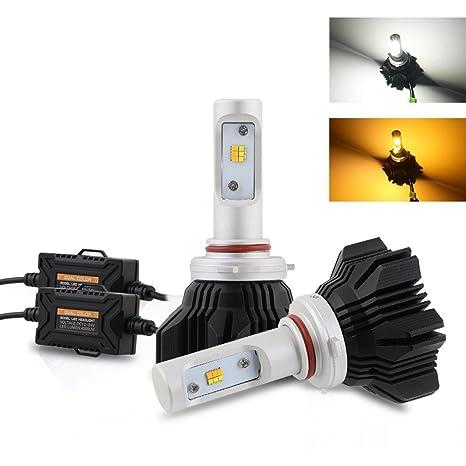 NIGHTEYE H11 LED Faro Doble-color Bombillas 3000K /6500K 8000LM Philips ZES Luces Delanteras