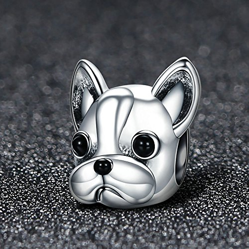 Forever Queen Dog Charm, 925 Sterling Silver Cute Loyal Partners French BULLDOG Doggy Animal Pet Bead Charms fit Pandora Charms for Pandora Bracelets Jewelry, Animal Lovers BJ09001 by Forever Queen (Image #6)