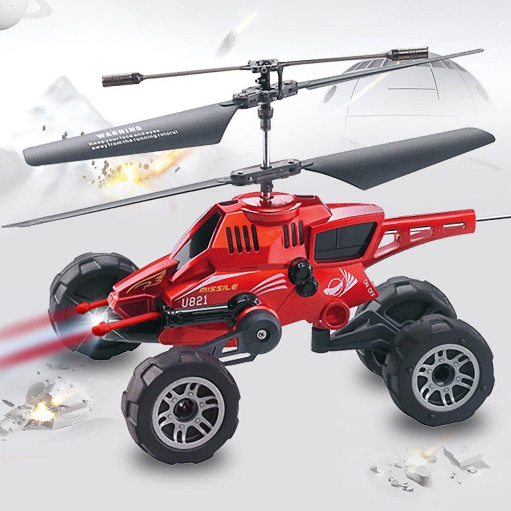 Drohnen Mit Drei-In-One Air-To-Air-Kämpfer Fernbedienung Flugzeug Ladung Kämpfer Kind Boy Aircraft,ROT