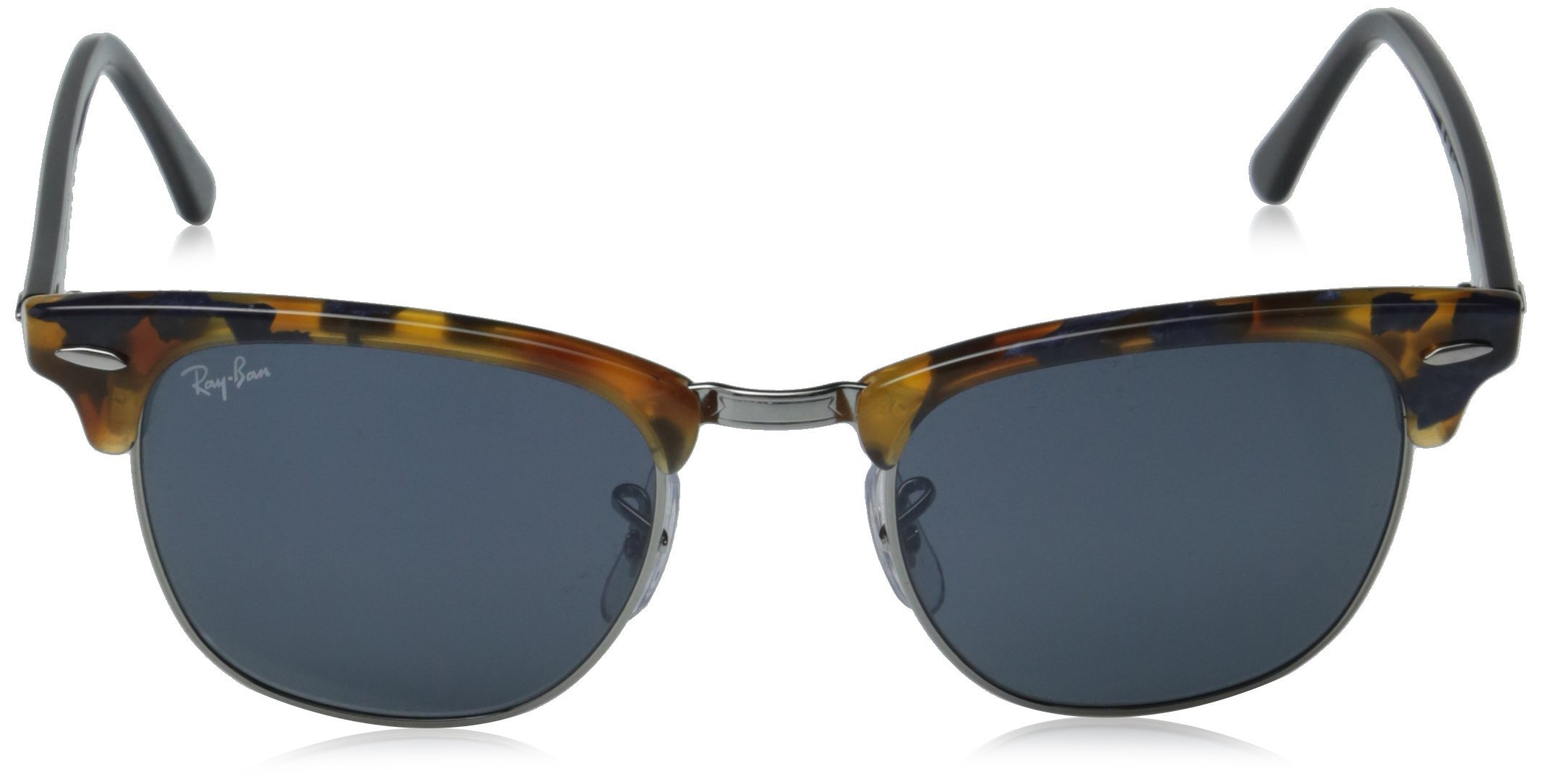Ray-Ban CLUBMASTER - SPOTTED BLUE HAVANA Frame GREY Lenses 49mm Non-Polarized by Ray-Ban (Image #2)