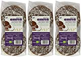 (3 PACK) - Amisa Milk Chocolate & Coconut Coated Rice Cakes | 105 x 12g x | 3 PACK - SUPER SAVER - SAVE MONEY