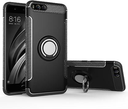 BLUGUL Funda Xiaomi Mi 6, Soporte Giratorio del Anillo de 360 ...
