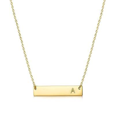 Amazon.com: MOMOL - Collar con colgante de barra inicial ...