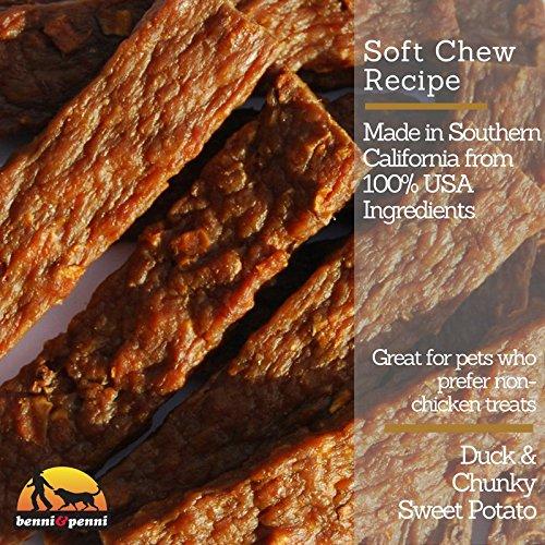 Benni & Penni USA Raised Duck and Sweet Potato Soft Chew Jerky 6 oz. by Benni and Penni (Image #3)
