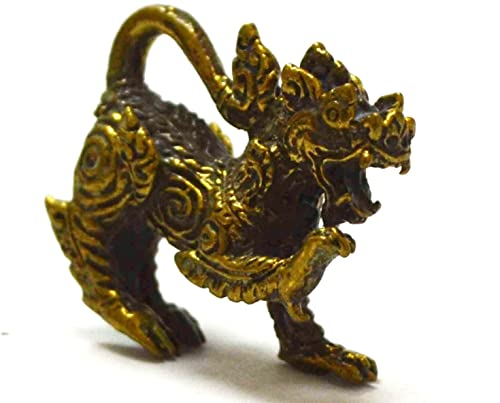 Amulet Singha Hunting Money Wealth Rich Luck Good Business Attraction Thailand
