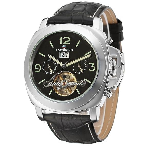 forsining automático Fantástico hombre calendario reloj de muñeca fsg005 m3s2: Amazon.es: Relojes