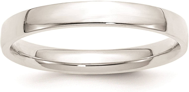 Full /& Half Sizes 10k White Gold 4mm Light Comfort Fit Wedding Ring Band Size 4-14