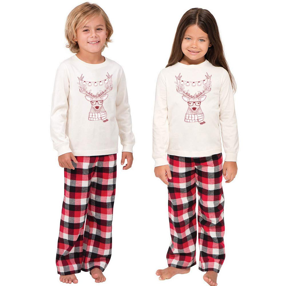 family christmas pajamas men women boy girl kids santa deer tops blouse pants family pajamas sleepwear