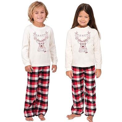 Familie Weihnachten Pyjamas Set Warm Erwachsene Kinder Mädchen Junge Mama Nachtwäsche Nachtwäsche Mutter Tochter Kleidung Passenden Familie Outfits Mutter & Kinder