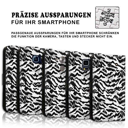 Wallet Book Style Flip Handy Tasche Case Schutz Hülle Schale Motiv Etui für Apple iPhone 5 / 5S - Design Flip MVD77