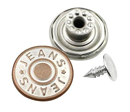 vista previa de muchos de moda como comprar Amazon.com: Metal Buttons for Jeans 10 pcs Buttons for Fashion